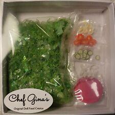 Barbie size Salad Supply Kit Realistic Mini Food 1/6th scale