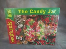 "NEW Springbok ""The Candy Jar"" 500 Piece Jigsaw Puzzle New Factory Sealed"