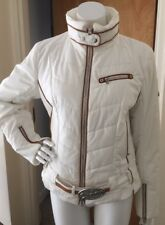 Bogner Coat Jacket Ski Iconic Goan Thylmann Ski Jacket White Cream Sz US 6/8