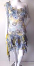 IT GIRL BY LIZA EMANUELE rrp $359 Size 8 US 4 Silk Asymmetric Hem Shift Dress