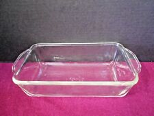 FIRE KING # 409 CLEAR GLASS BAKING DISH 1 QT MADE IN USA PRE-0WNED