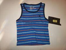 New Hurley sleeveless tank top T shirt blue stripe sz 12M 18M 24M 12 18 24 month