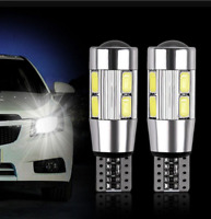 2x White 194 W5W 5630 LED 10SMD T10 CANBUS ERROR FREE Car Side Wedge Light Bulb