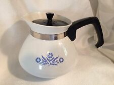 Vintage Corning Ware P-104 Blue Cornflower 6 Cup Tea Coffee Pot