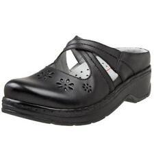 Klogs Carolina Women's Clogs Black Smooth - 9 Wide