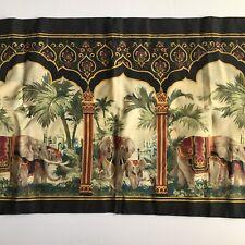 Vtg Ellison Elephants King Size Pillow Sham Moroccan Design