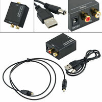 Optical Coaxial Toslink Digital to Analog Audio Converter Adapter RCA R/L DC