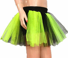 neon uv Lime Black Tutu Skirt Fun Dance sexy fancy costume race Birth day Party