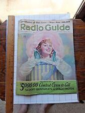 1936 Radio Guide Magazine. Dionne Quints; Grace Moore; Joan Blaine; Bob Ripley..