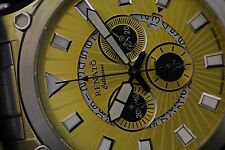 Renato 50mm Calibre Robusta Swiss Ronda 5040D Stainless Steel Yellow Dial Watch