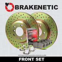 DK1010-1 Front Brake Rotors and Ceramic Pads and Hardware Set Kit