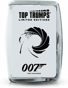Top Trumps 007 James Bond Limited Edition Case Top Trumps Card Game *New*