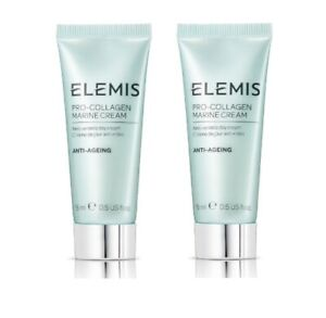 2 x ELEMIS PRO-COLLAGEN MARINE DAY CREAM 15ml (30ml) - FREE P&P - RRP £60