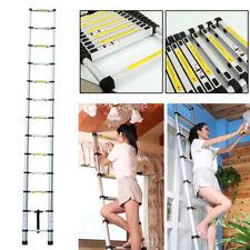 3.8m New Multi-Purpose Aluminium Telescopic Ladder Extension Extendable Steps +