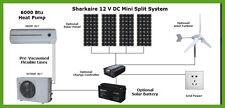 Solar Mini Split Ductless Air-conditioner 6000 BTU 12 V DC,