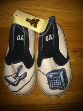 GAP BOYS BLUE GUITAR and AMPLIFIER SLIP-ON SHOES ORG. $19.95  SIZE 5 BNWT