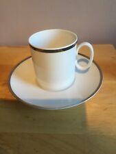 Thomas China TEA CUP & SAUCER-Platinum Range-spessore argento linea-VINTAGE