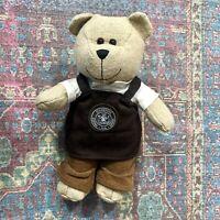 Starbucks Brown Apron Bearista Barista Teddy Bear 2016 Limited Edition