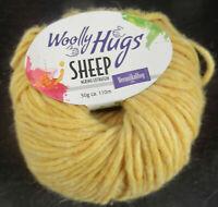 (11,90 €/100 g): 150 g SHEEP,  Woolly Hugs, Fb. 22  gelb  #3888