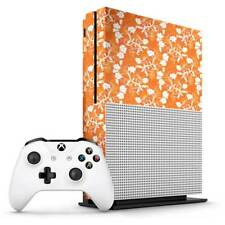 Orange Floral Xbox One S Skin / Xbox One S Skin Sticker Cover
