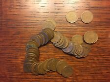 Roll of Circulated Lincoln Cents - many early dates!  1911, 1912, +  No reserve!