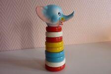Ancien jouet pyramide vintage tête d'éléphant.