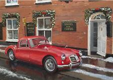 MG MGA British Classic Car Christmas Xmas Card