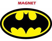 MAGNET BATMAN LOGO Decal Diecut Vinyl Comic Dark Knight Colored Car Track Fridge