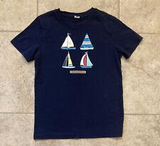 Janie And Jack Sailing Club Boy's Sailboats T-Shirt/Tee Navy Blue Size 7