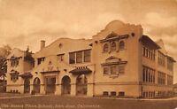 San Jose California~Horace Mann School~1910 Postcard