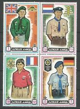 Ajman 1971 PA 94 **  série 4 timbres Scoutisme Jamboree Japon Uniformes