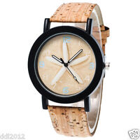Fashion Men's Women's Leather Band Casual Quartz Analog Wrist Watches Gifts AU