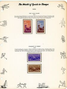 INDIA-- 2 Complete sets Scott #233-#234 & #244-#245 mounted on pages
