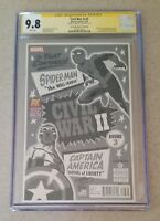 Civil War II #3 CGC SS 9.8 SDCC 2016 Variant Signed Michael Cho Death of Banner