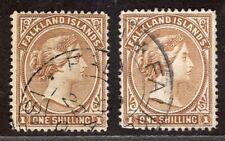 FALKLAND ISLANDS 1891/1902 STAMP Sc. # 18/18a USED