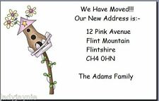 20 Small Change Of Address Cards - Available in House, Birdhouse & Cow Designs
