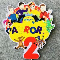 The Wiggles PERSONALISED Cake Topper.  Lolly Bag Party Supplies Deco Cake Custom