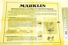 Istruzioni per l'uso Vagone M automatico Giunti Märklin 10.12.32 R Scala 0 å