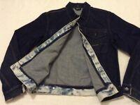 Stone Island Limited Denim Blue Jeans Jacket Men's Size L 606561