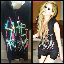 """Abbey Dawn Avril Lavigne """"LEI Rex"""" Felpa Con Cappuccio Senza Maniche Taglia Small punk goth"""