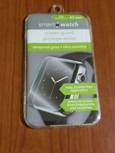 Smart Watch Screen Guard. Fits Apple Watch 42 mm Tempered Glass Ultra-Sensitive.