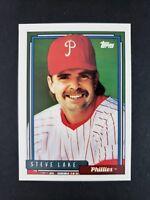 1992 Topps Steve Lake Philadelphia Phillies NN & NoBio #331 Baseball Card