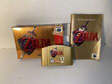 LEGEND OF ZELDA OCARINA OF TIME Gold - Nintendo 64 W/Box & manual Works TESTED