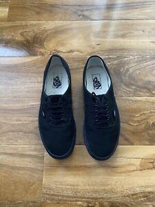 Vans Black low top canvas sneakers Size 8 U.K.  Us9