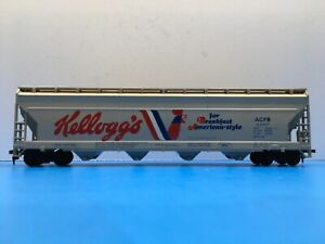 """HO Scale Tyco """"Kellogg's"""" ACFB 52311 Covered Hopper Freight Train Car"""