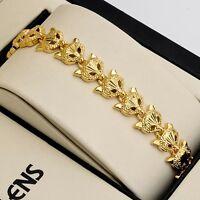 "Women fox Bracelet Fashion Jewelry 18K Yellow Gold Filled Charms 7.3"" Link Hot"