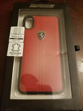 Official FERRARI Leather Case for iPhone X Hard Case Red Drop Protection