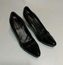 "PRADA Italy Womens 3"" Pumps Heels Shoes Sz 38 Black"
