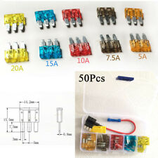 50Pcs Micro 3 Pins Blade Fuse Holder Puller Set For Ford Focus Mondeo Dodge JEEP