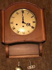 Vintage Mauthe Clock Made in Germany - WALL PENDULUM - 140-64 M3 9033JN